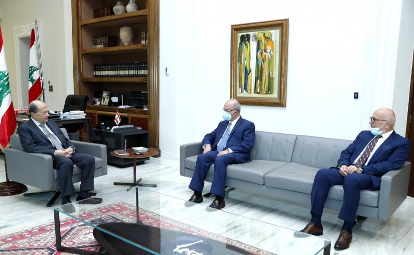 President Michel Aoun meets Dr. Michel Mawad (LAU).