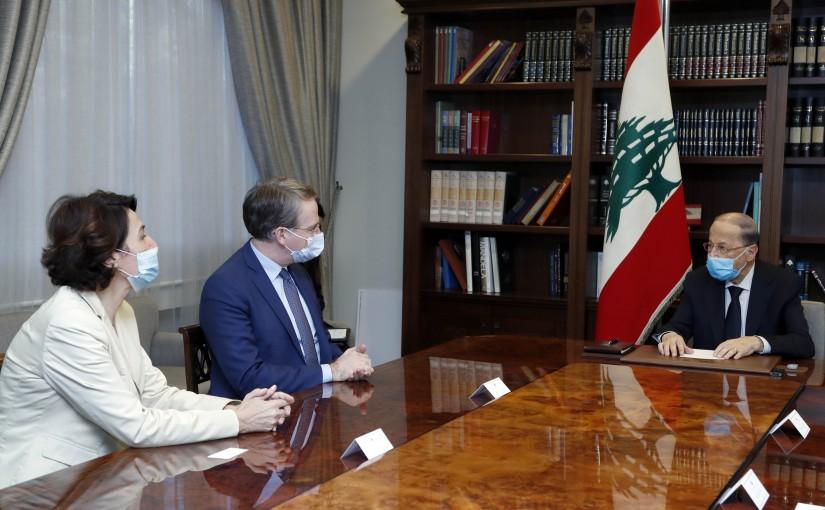 President Michel Aoun meets M. Patrick Durel, Conseiller Afrique du Nord, Moyen-Orient du Président de la République.