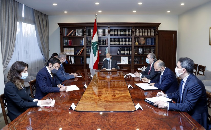 President Michel Aoun meets Mr. Jan Kubis.