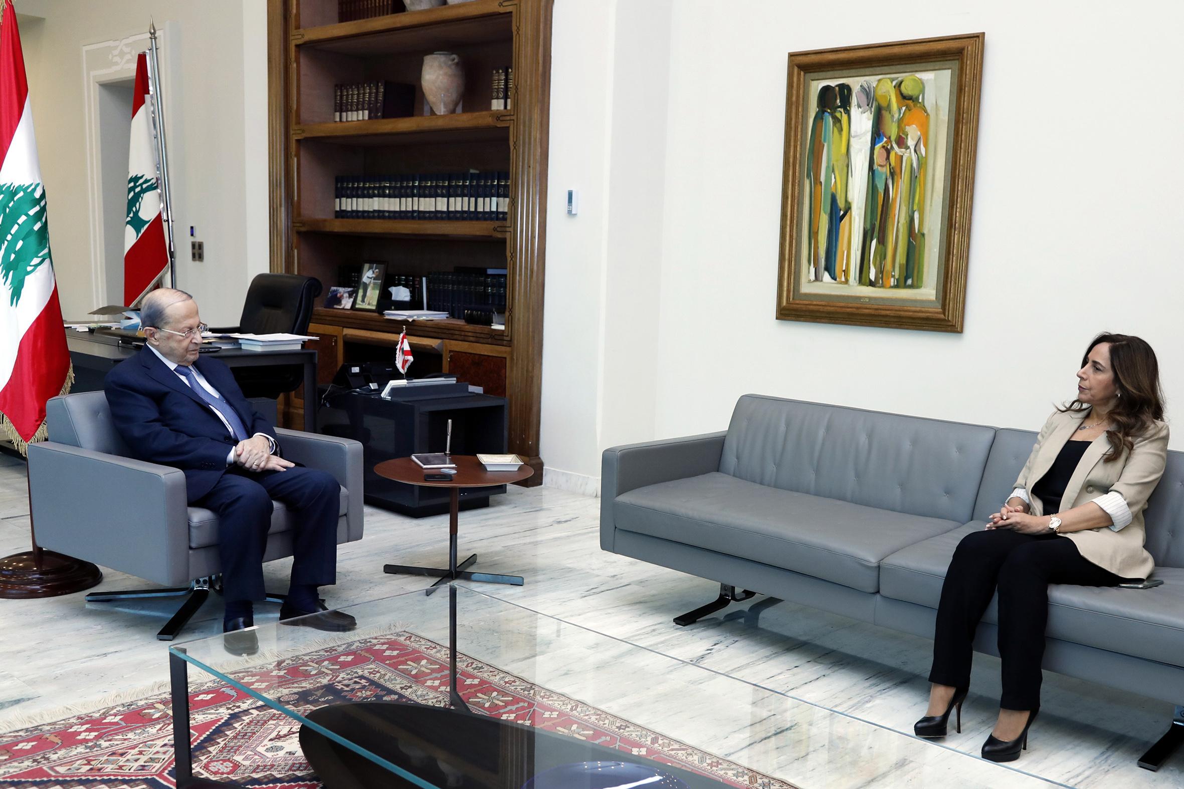 2 - Minister of Defense and Deputy Prime Minister Zeina Akar