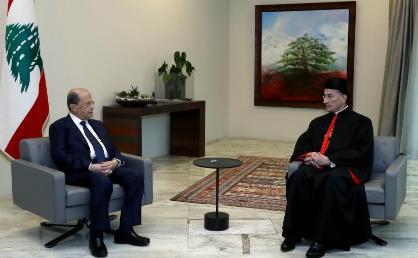 President Michel Aoun meets Patriarch Moran Mor Bechara Boutros al-Rahi.