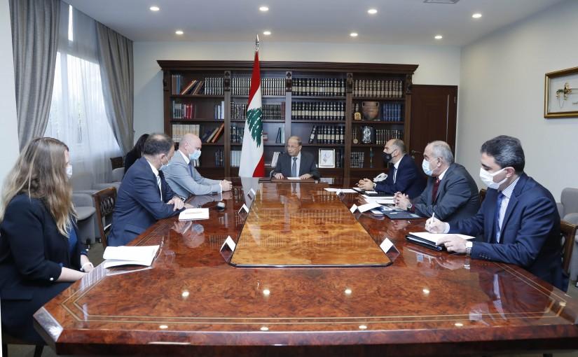 President Michel Aoun meets Ambassador Andreas Kindle.