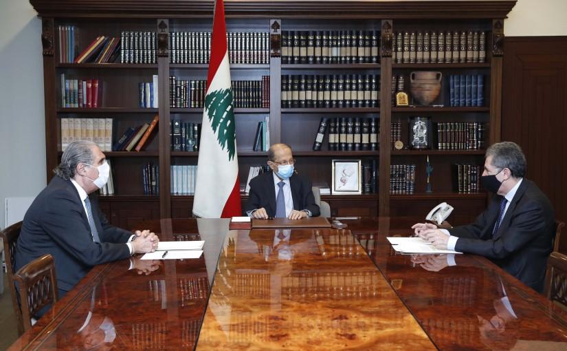 President Michel Aoun meets Minister of Finance Dr. Ghazi Wazni.