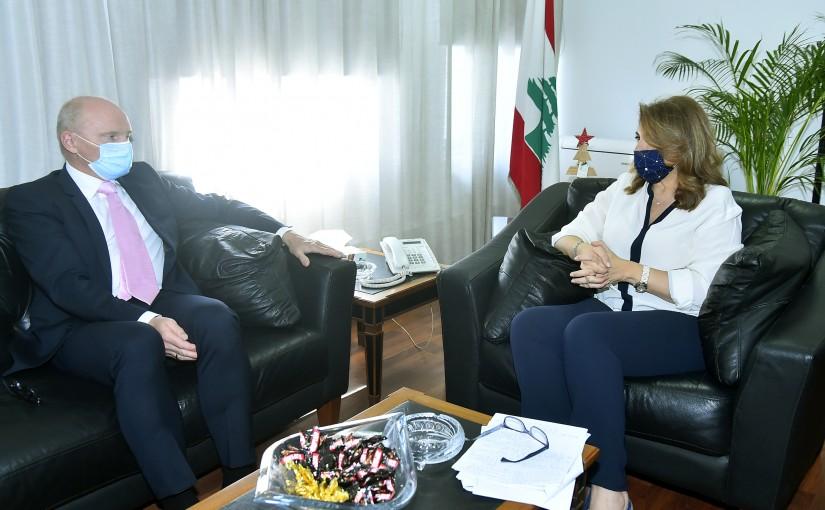 Minister Marie Claude Najem meets German Ambassador