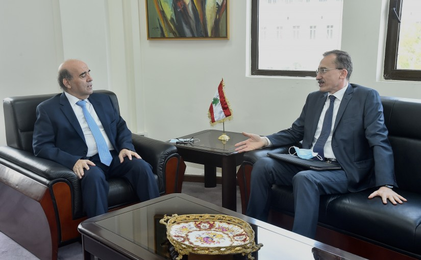 Minister Charbel Wehbeh meets Romanian Ambassador