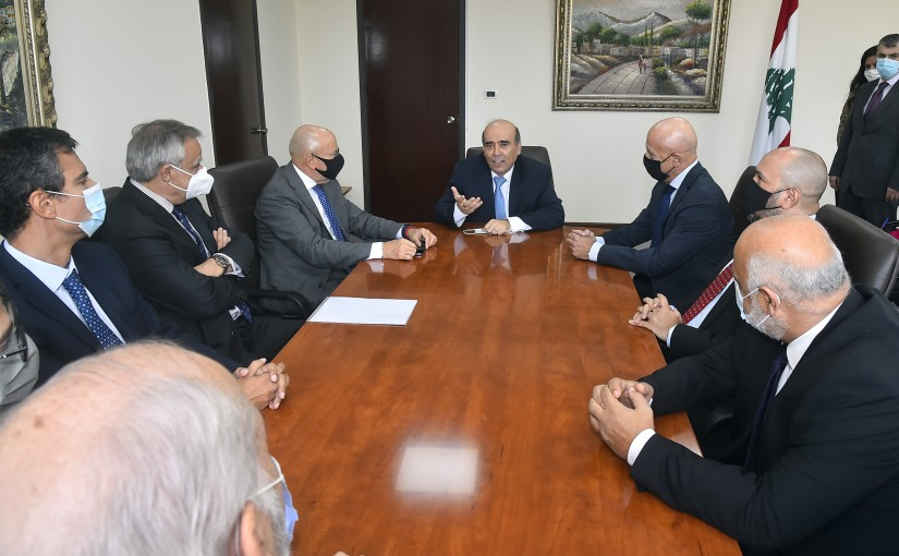 Minister Charbel Wehbeh meets a Delegation from Latin Ambassador