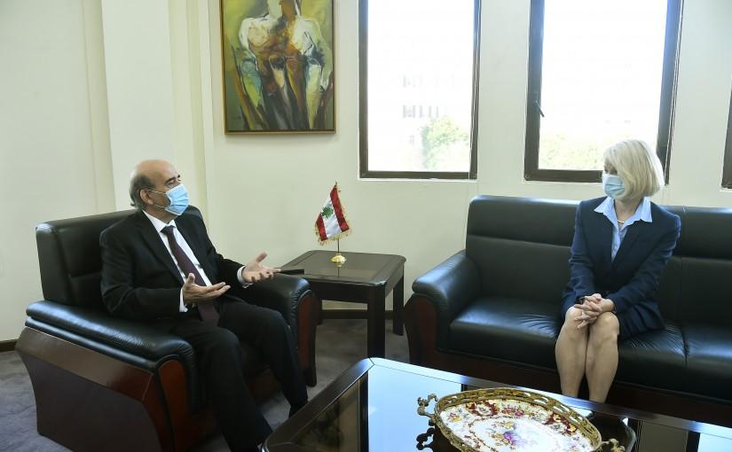 Minister Charbel Wehbeh meets Finland Ambassador