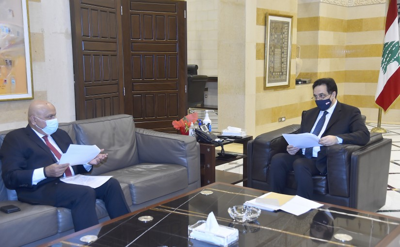 Pr Minister Hassan Diab meets a Delegation from World Bank