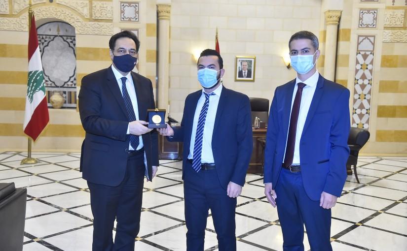 Pr Minister Hassan Diab meets Mr Walid Maleb