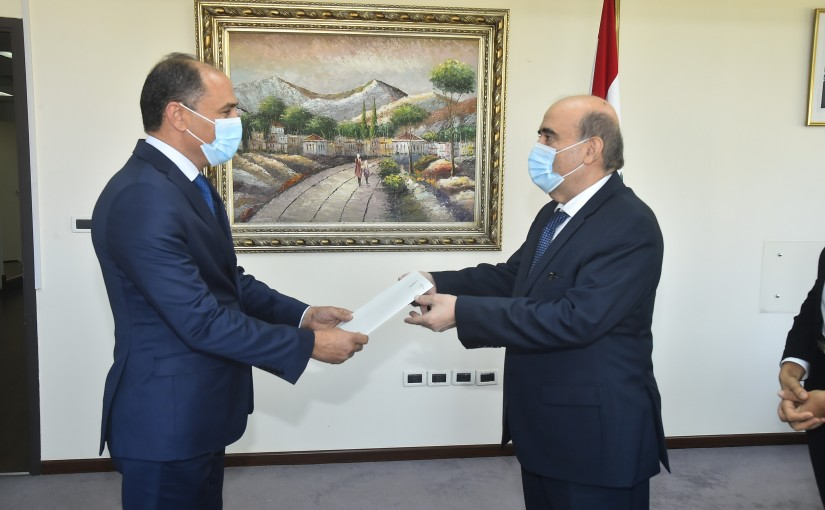 Minister Charbel Wehbeh meets Tunisian Ambassador