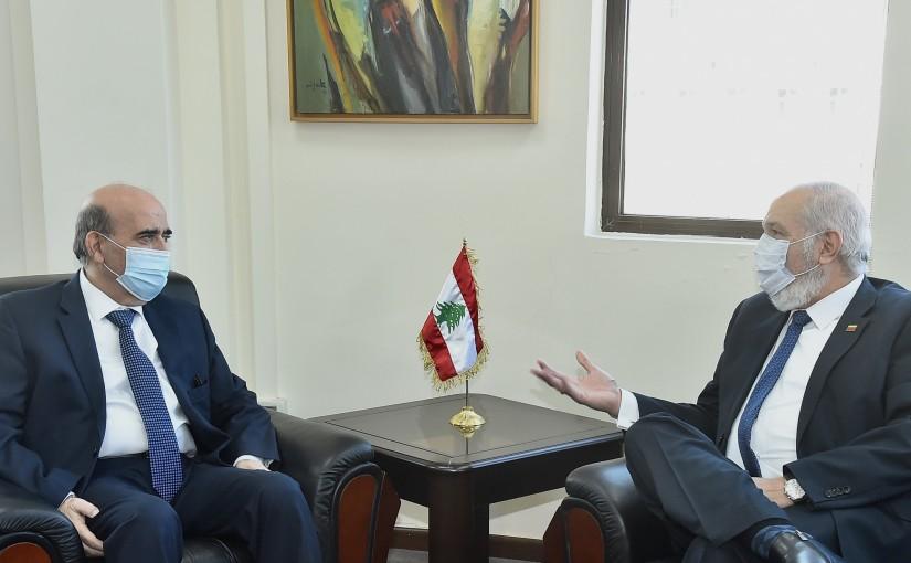 Minister Charbel Wehbeh meets Venezuela Ambassador