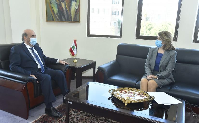 Minister Charbel Wehbeh meets Greek Ambassador