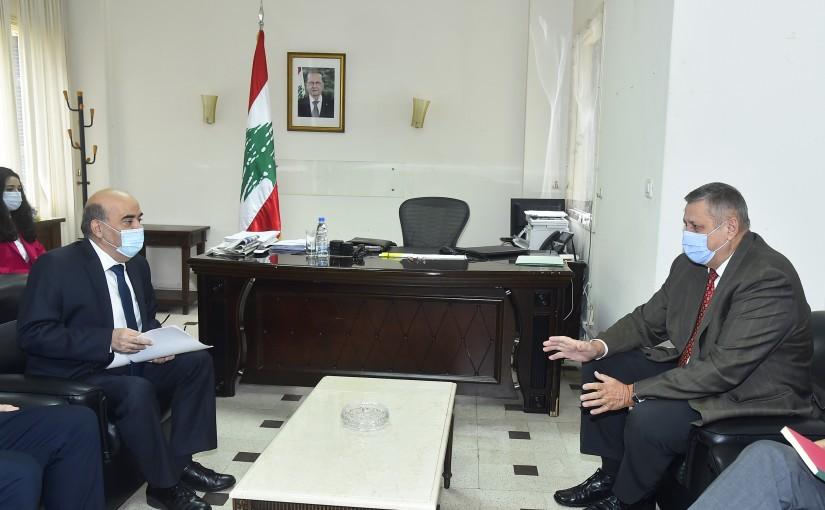 Minister Charbel Wehbeh meets Mr Yan Kubish