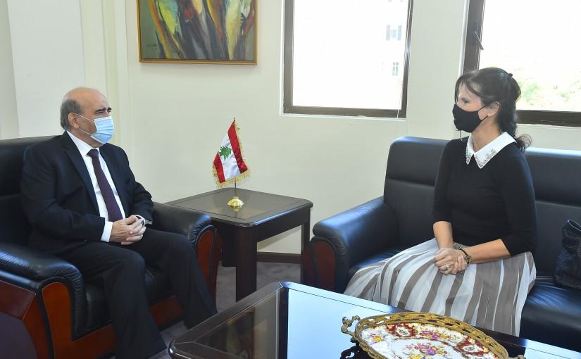 Minister Charbel Wehbeh meets Czech Ambassador