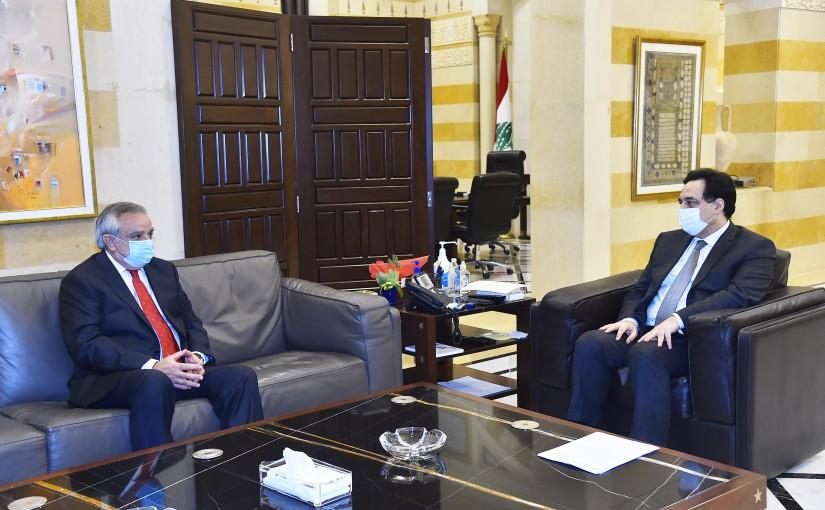 Pr Minister Hassan Diab meets Chile Ambassador