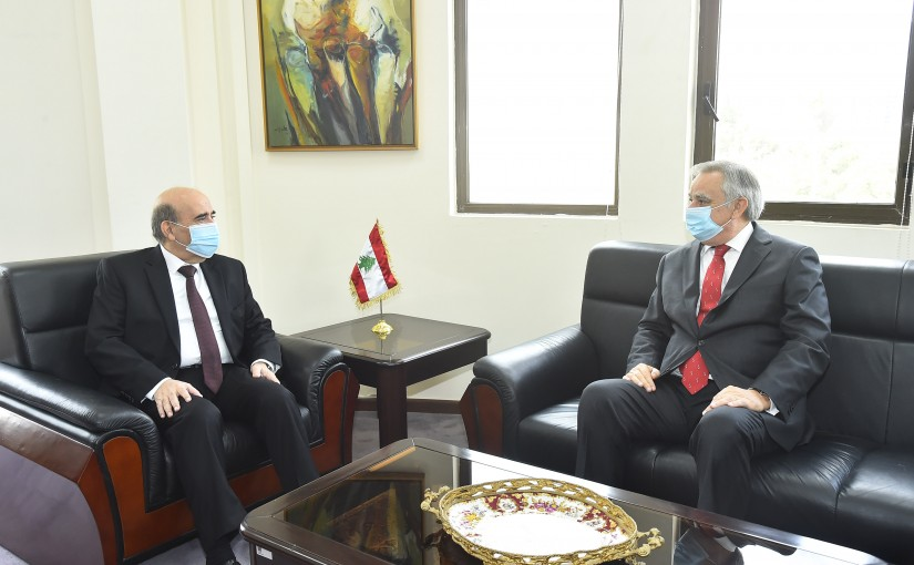 Minister Charbel Wehbeh meets Chile Ambassador