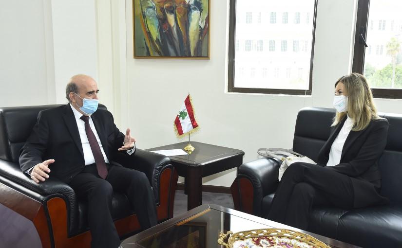 Minister Charbel Wehbeh meets Italian Ambassador