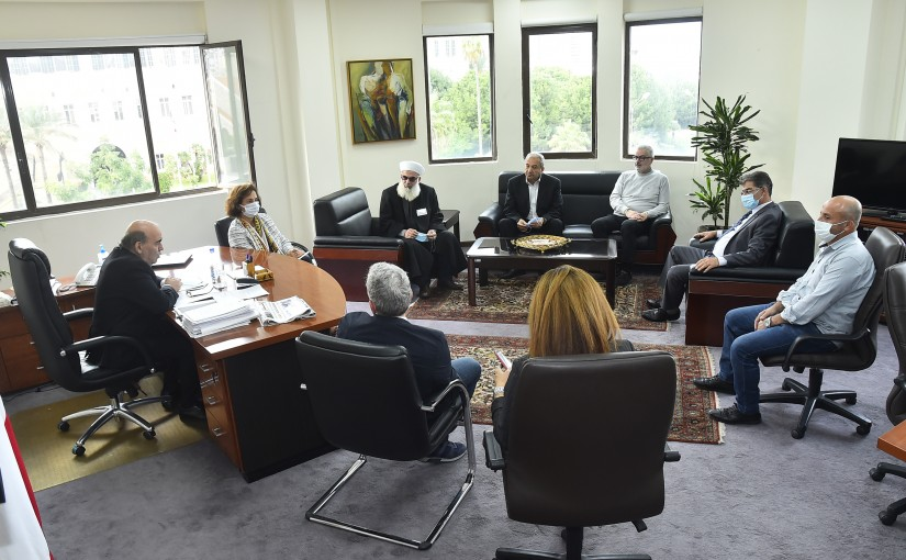 Minister Charbel Wehbeh meets a Delegation from Lebanese Parents