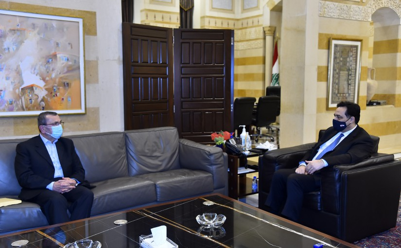 Pr Minister Hassan Diab meets MP Hassan Ezelldine