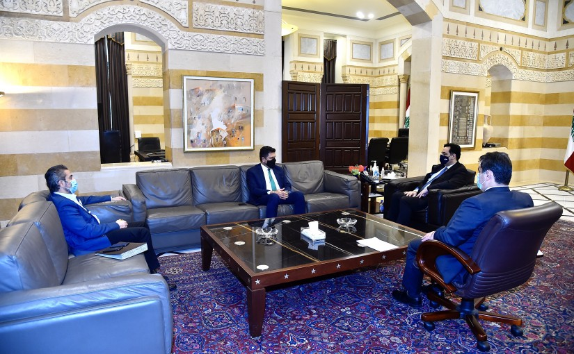 Pr Minister Hassan Diab meets Minister Raymond Ghajar