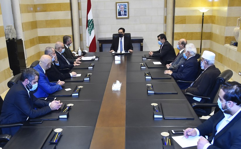 Pr Minister Hassan Diab meets a Delegation from Islamic University