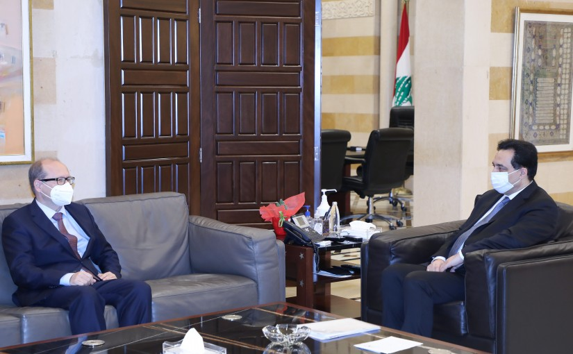 Pr Minister Hassan Diab meets Austria Ambassador