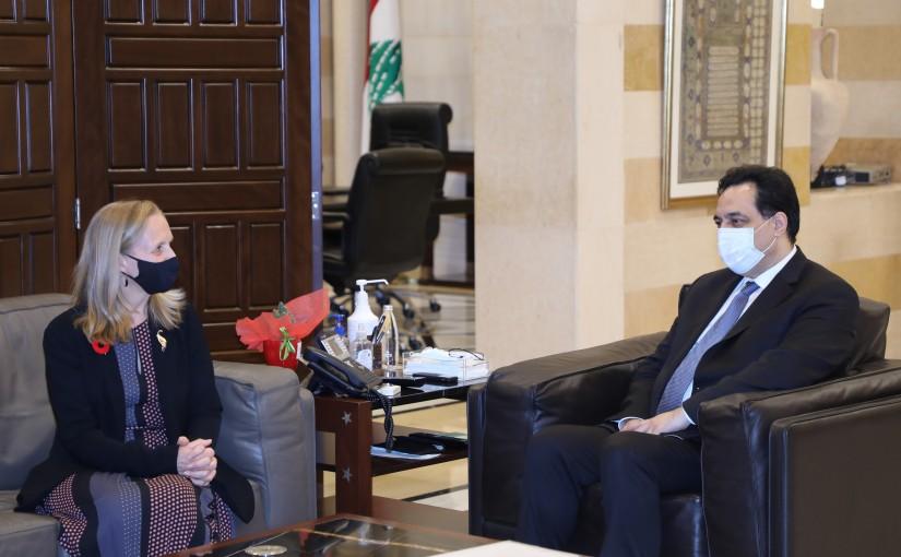 Pr Minister Hassan Diab meets Canadian Ambassador