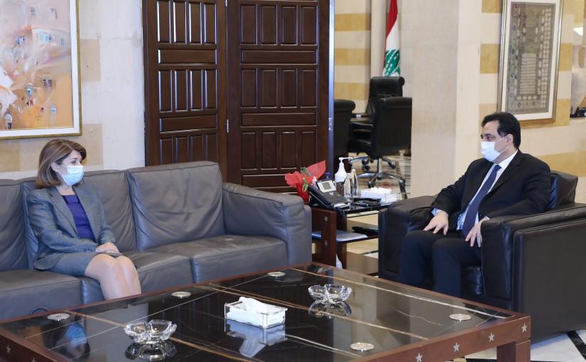 Pr Minister Hassan Diab meets Greek Ambassador