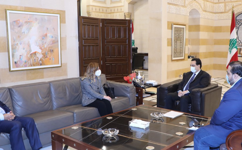 Pr Minister Hassan Diab meets a Delegation from Ministry of Youth