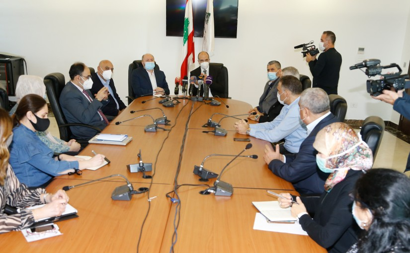 Minister Hassan Hamad meets a Delegation from Lebanese Labour Syndicate