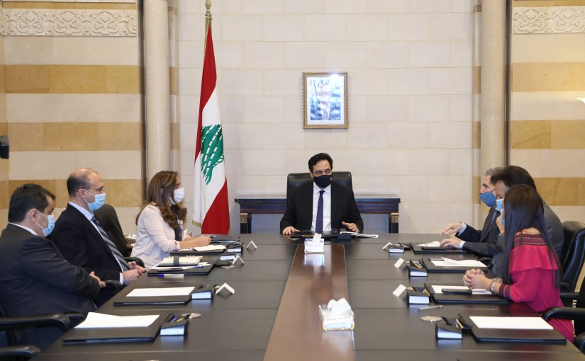 Pr Minister Hassan Diab meets a Delegation from Hospital Syndicate