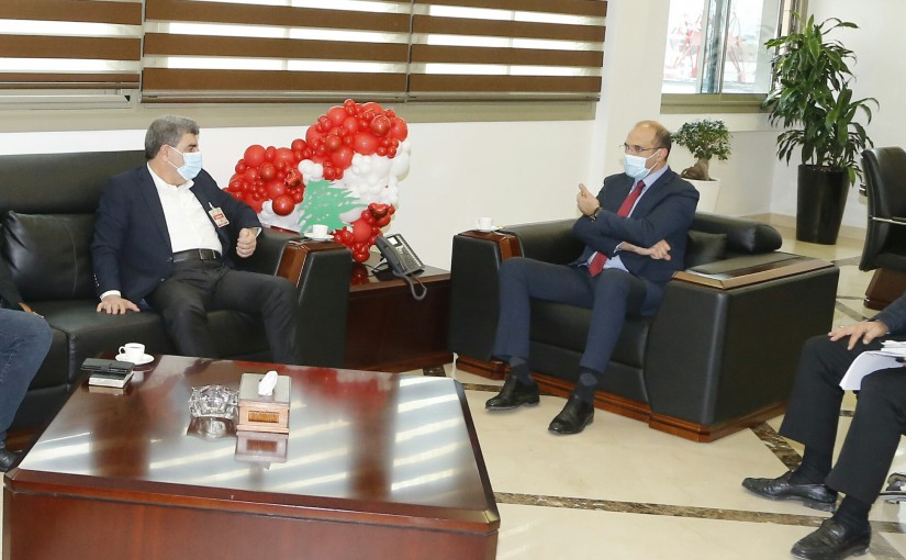 Minister Hassan Hamad meets a Delegation from Amal Party