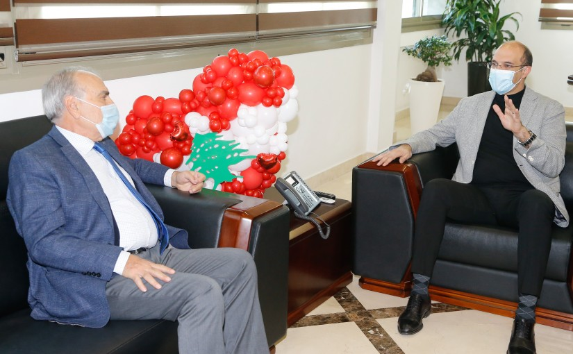 Minister Hassan Hamad meets Former MP Emile Rahmeh