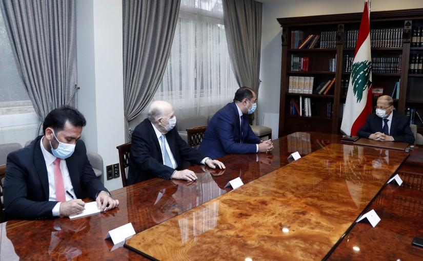 President Michel Aoun meets Assistant Secretary-General of the Arab League Ambassador Hossam Zaki.