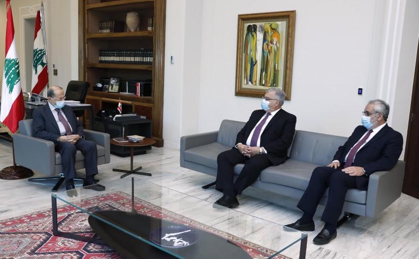President Michel Aoun meets  Mr.  Hagop Der Khatchadourian and MP Hagop Pakradounian.