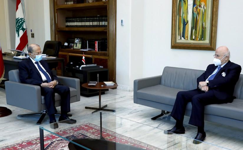 President Michel Aoun meets MP Jean Obeid.