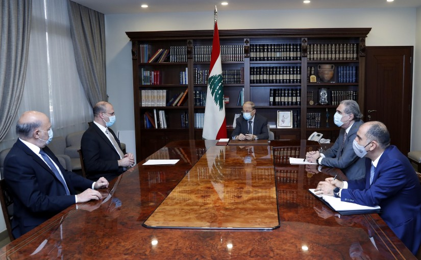 President Michel Aoun meets Health Minister Dr. Hamad Hassan.