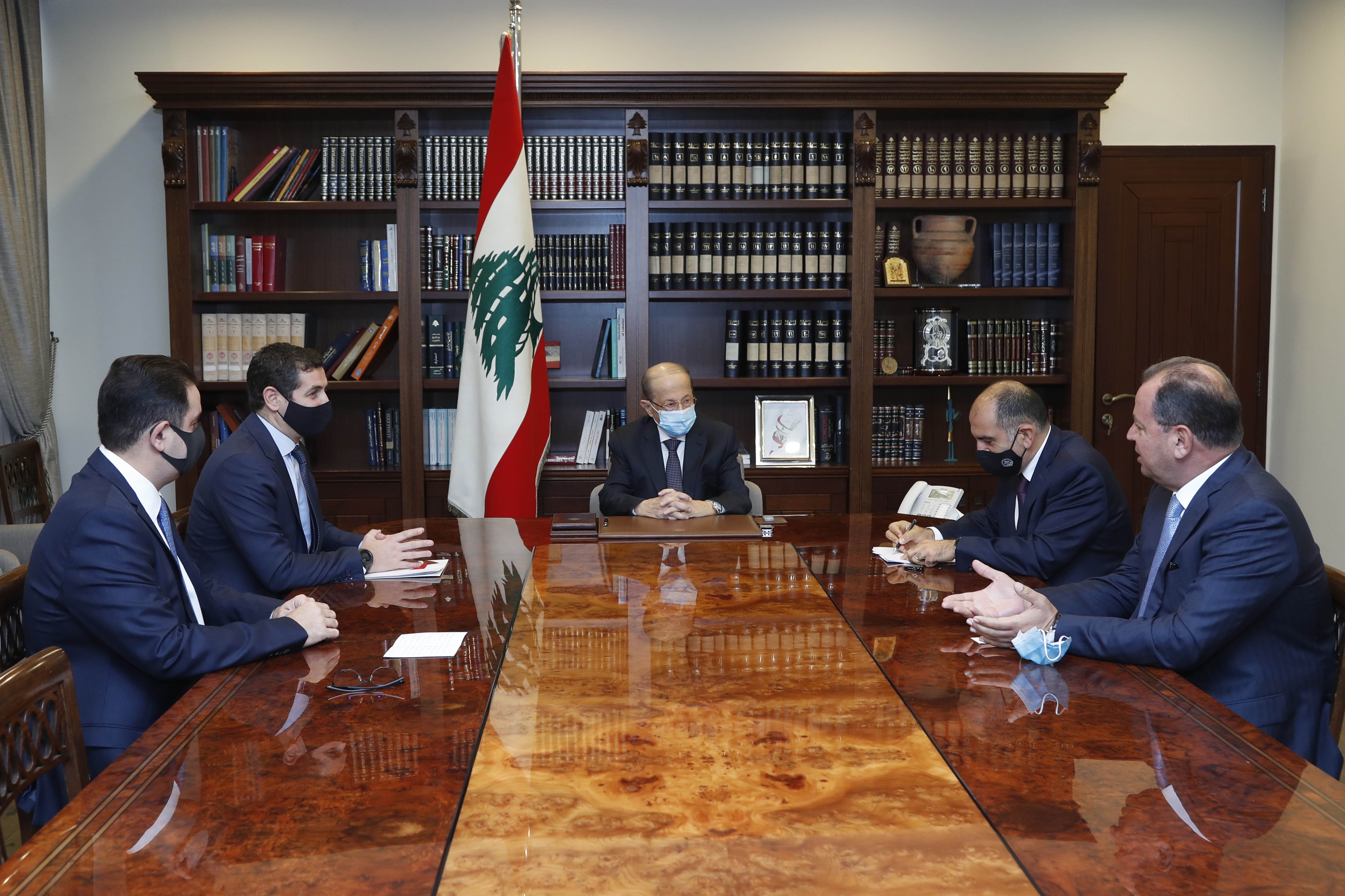 02 - MP Deputy Eddy Maalouf, and Mr. Jean Beyrouthy and Mr.Tony Al-Rami. 01