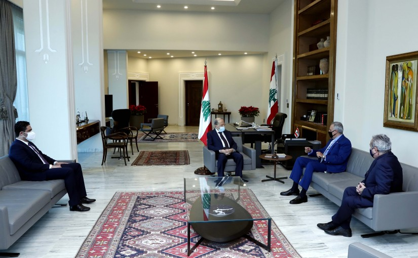 President Michel Aoun meets the head of the Lebanese Democratic Party, MP Talal Arslan, Minister of Social Affairs and Tourism Dr. Ramzi Mousharrafieh, and former Minister Saleh al-Gharib.