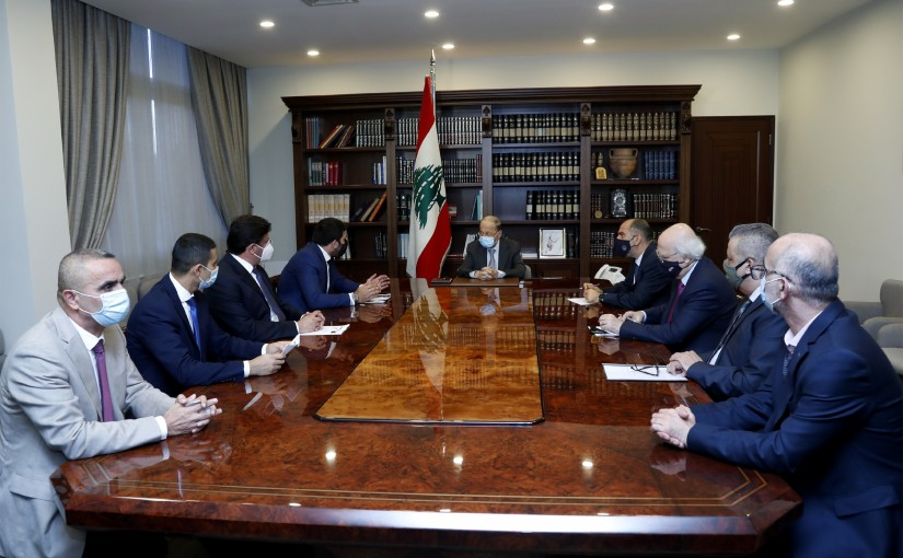 President Michel Aoun meets The Delegation of the Association of Depositors cry in Banks.