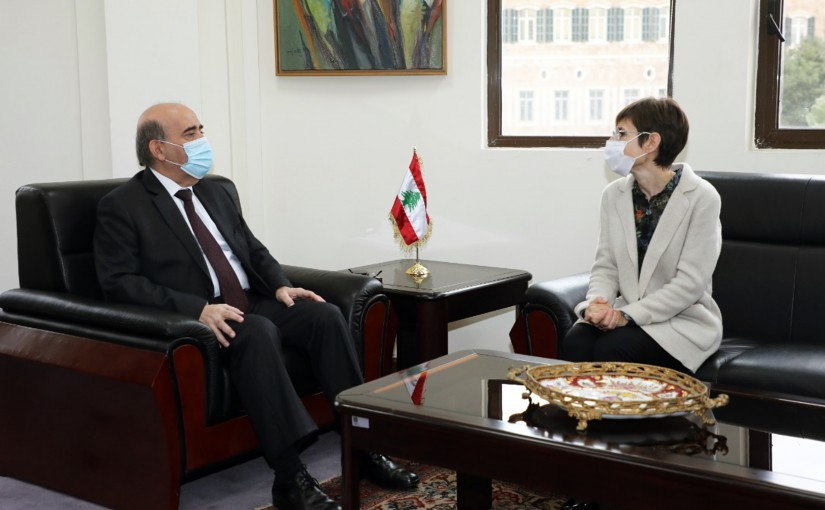Minister Charbel Wehbeh meets Mrs Mireille Gerard
