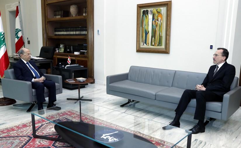 President Michel Aoun meets HE Mr. Victor MIRCEA Ambassador of Romania.