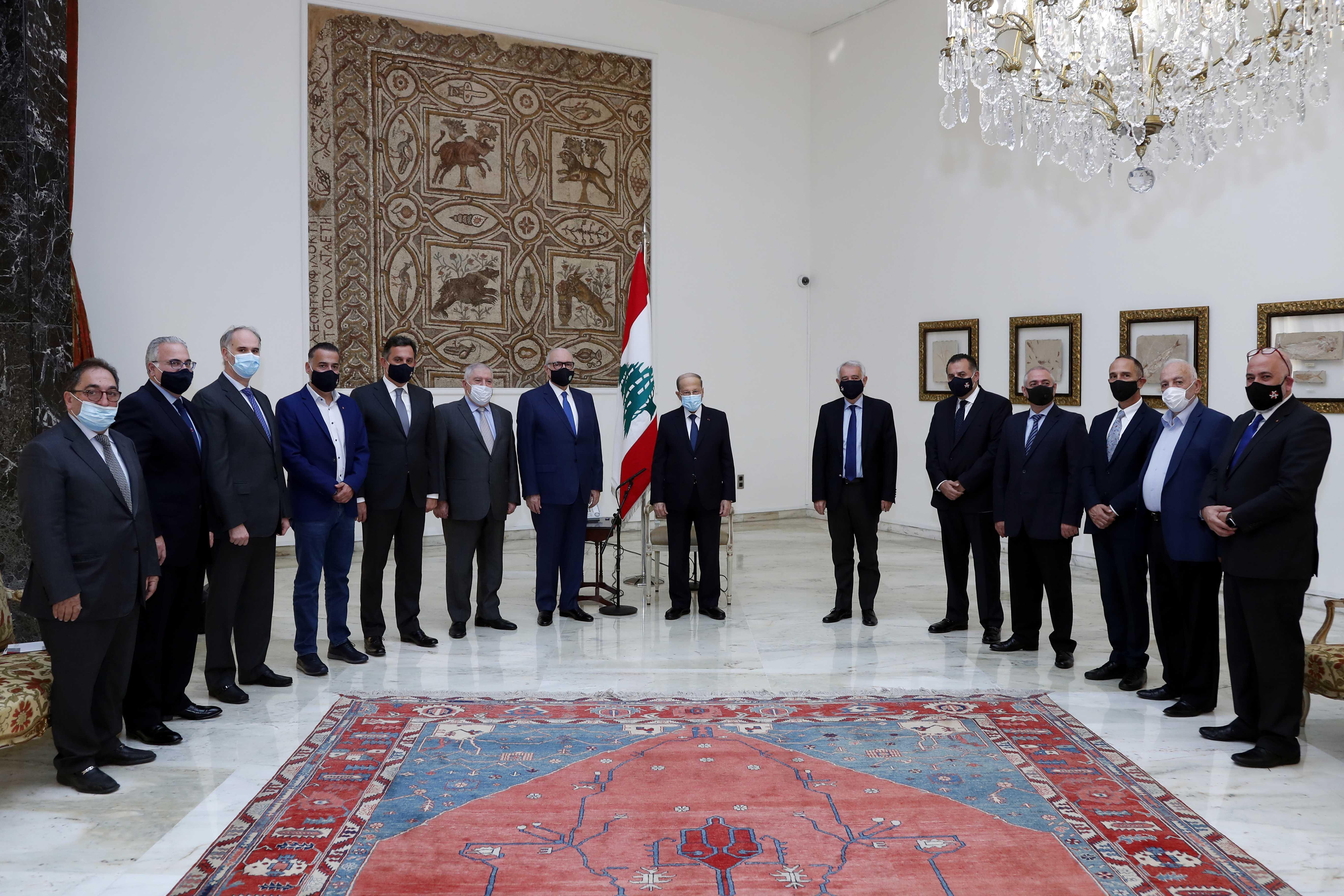 3 - Dr. Fady Gemayel with a Delegation copy