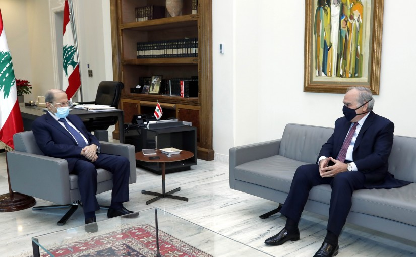 President Michel Aoun meets Former MP Emile Rahme.