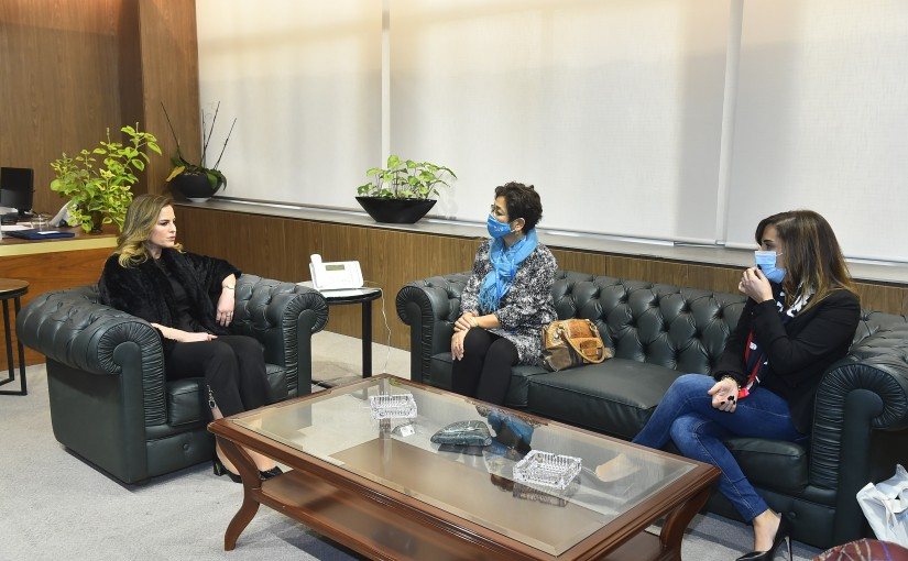 Minister Manal Abdel Samad meets a Delegation from UNICEF
