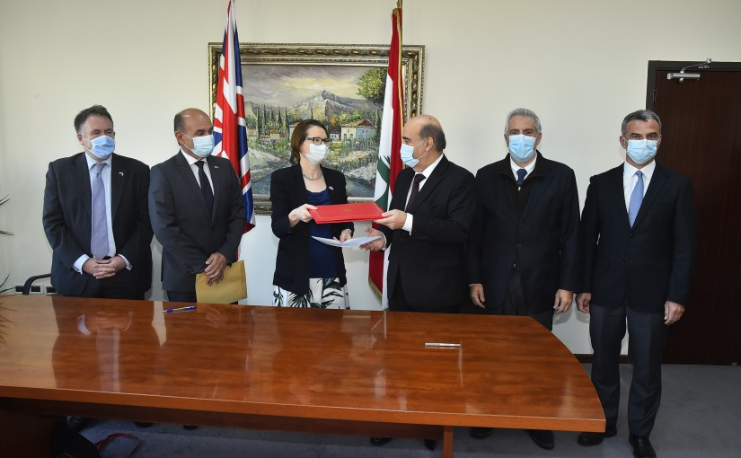 Minister Charbel Wehbeh meets a British Delegation