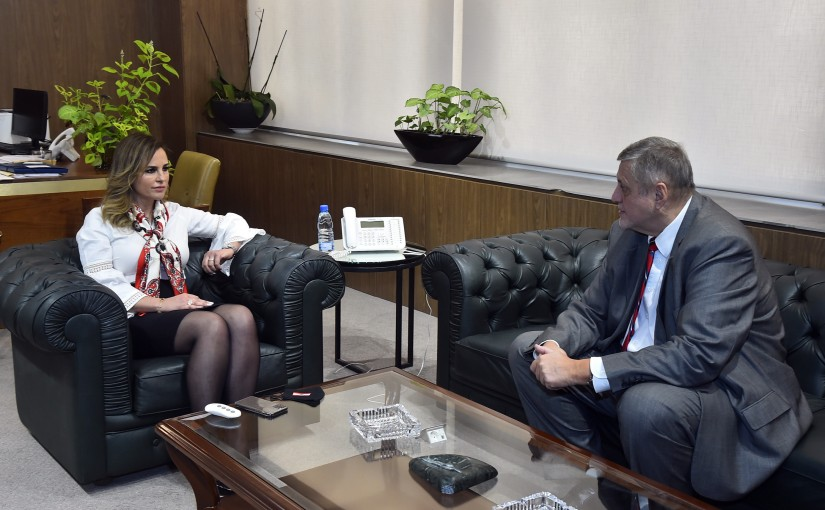 Minister Manal Abdel Samad meets Mr Yan Koubish