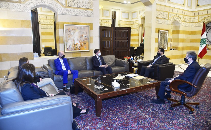 Pr Minister Hassan Diab meets Minister Ghazi Wazni with a Delegation