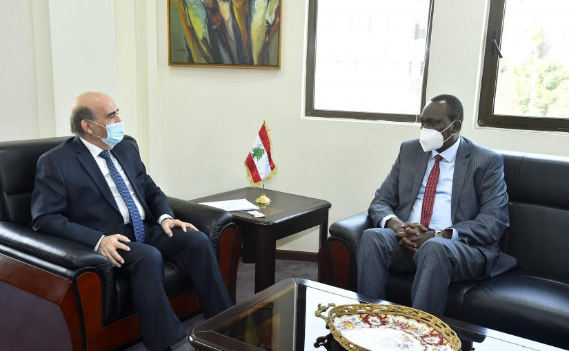 Minister Charbel Wehbeh meets a Delegation from Sudan