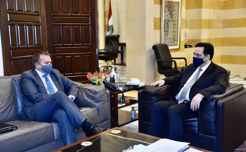 Pr Minister Hassan Diab meets Slovakian Ambassador